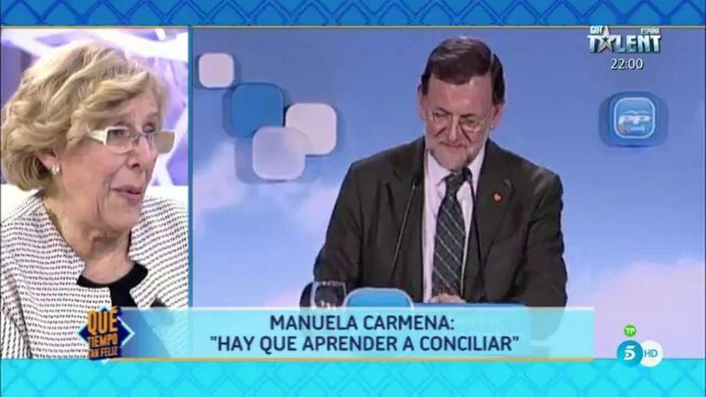 """Carmena: """"Rajoy debe asumir la responsabilidad de no parar la corrupción"""""""