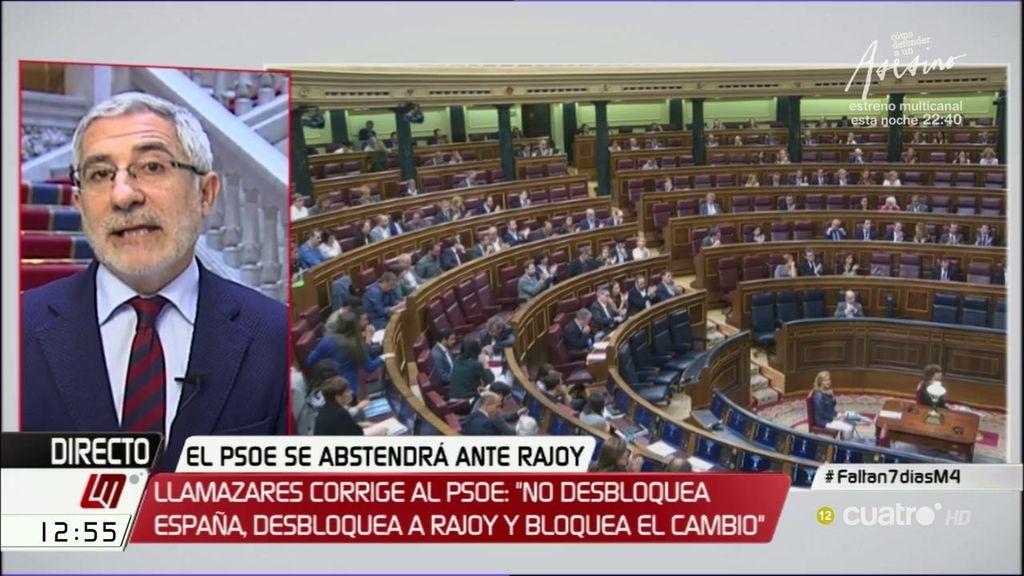"""Llamazares: """"El conjunto de la izquierda es más débil después de la decisión del PSOE"""""""