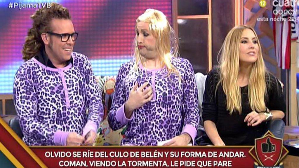 Torito se pone el pijama de Belén Esteban y se une a la moda 'animal print'