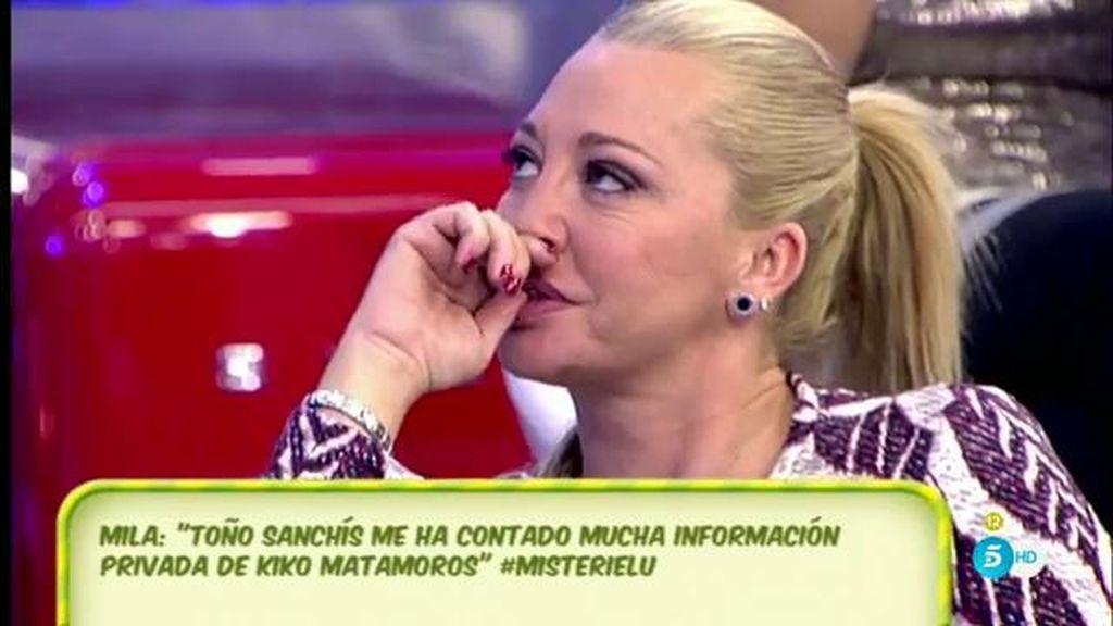 Terelu Campos recibe un mensaje que cuestiona a Toño Sanchís