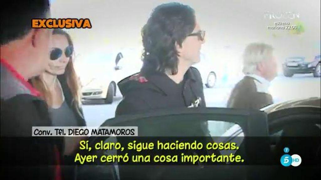 Diego Matamoros confirma que Toño Sanchís sigue siendo su representante