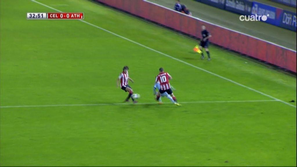 ¡Orellana se hace un autopase de tacón y deja plantados a dos jugadores del Athletic!