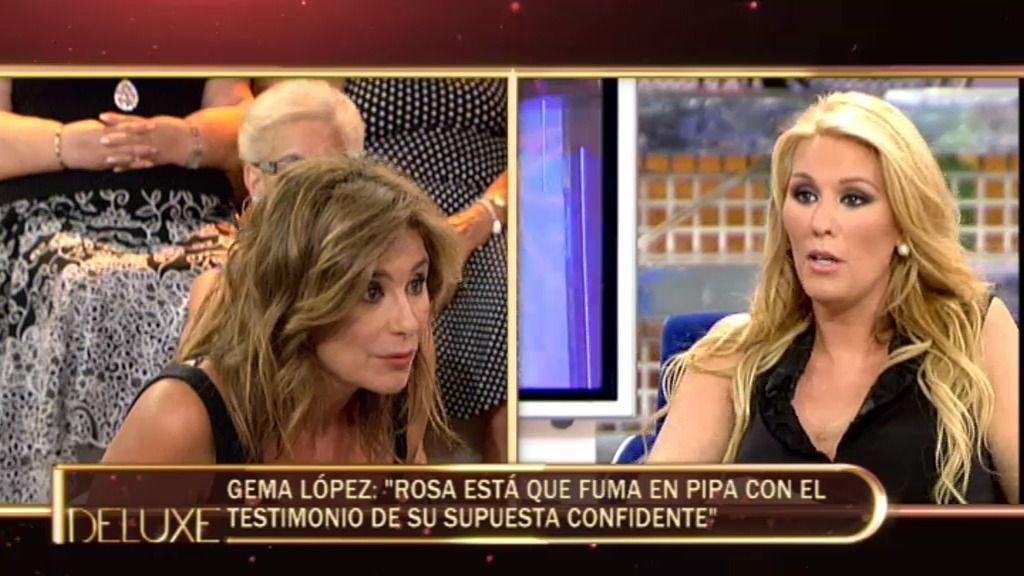 Rosa Benito llama en directo a Gema López para desmentir a Sandra