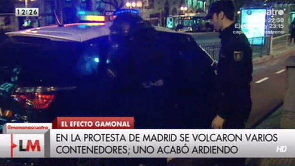 14 detenidos en la marcha de apoyo a Gamonal en Madrid