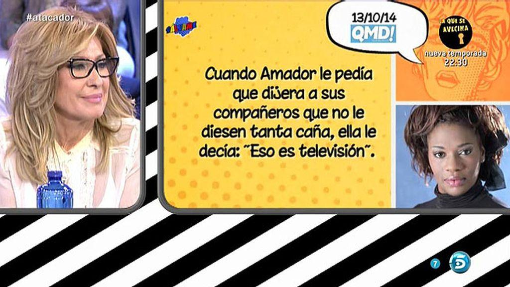 """Carolina Sobe, en 'QMD!': """"Rosa Benito era consciente de todas las deudas de Amador"""""""