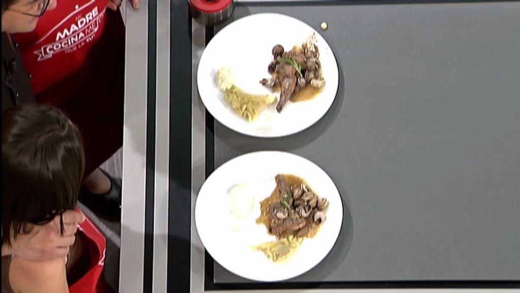 Aina y su madre compiten con un conejo con caracoles al vino tinto y salsa ali-oli