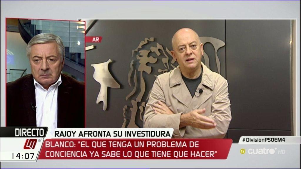 """José Blanco: """"Si Odón Elorza tiene un problema de conciencia, lo tiene fácil"""""""