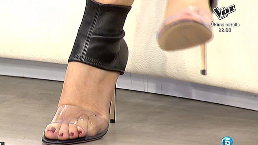Ana Rosa presume de zapatos