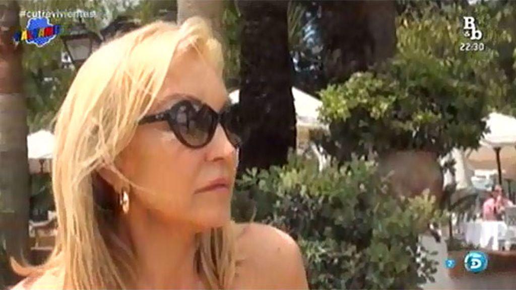 Carmen Lomana se enfada con la prensa al preguntarle por su hermano Rafa en 'SV'