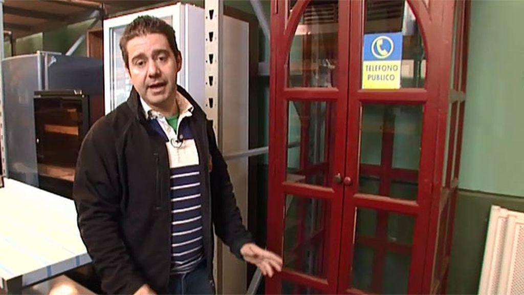 Vendo: cabina de teléfono tipo inglés