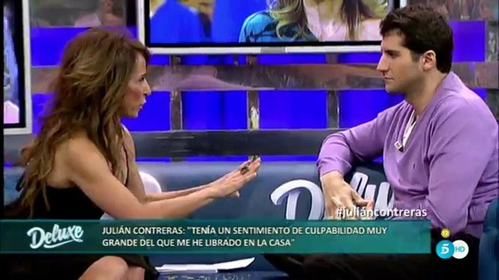 """Julián Contreras: """"En la casa me he librado del sentimiento de culpa que tenía"""""""