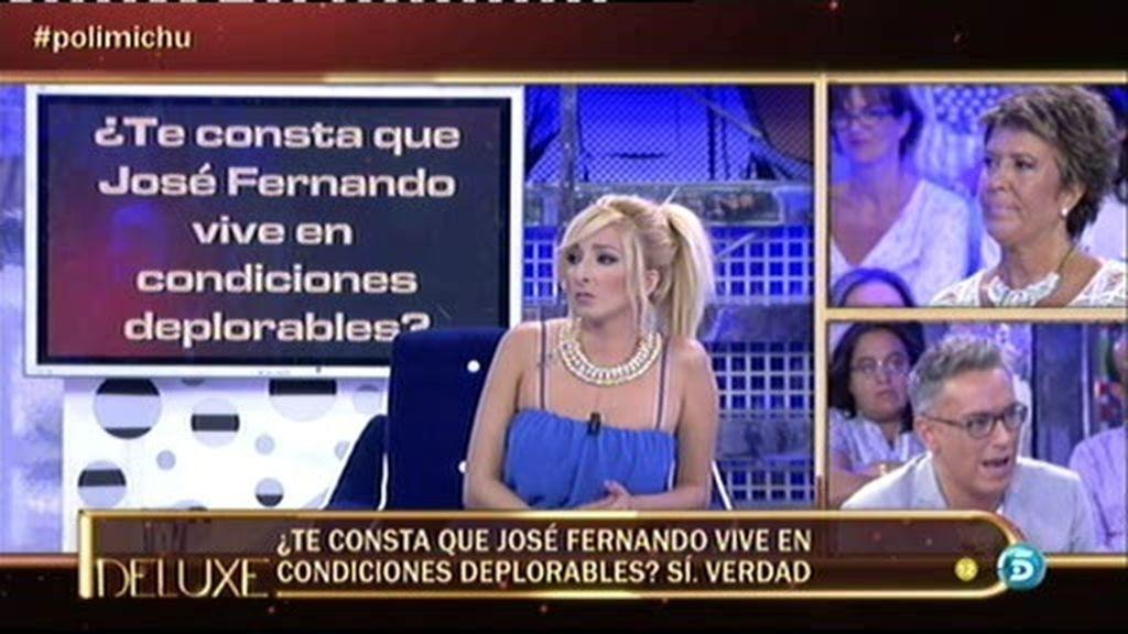 A Michu le consta que José Fernando vive en condiciones deplorables