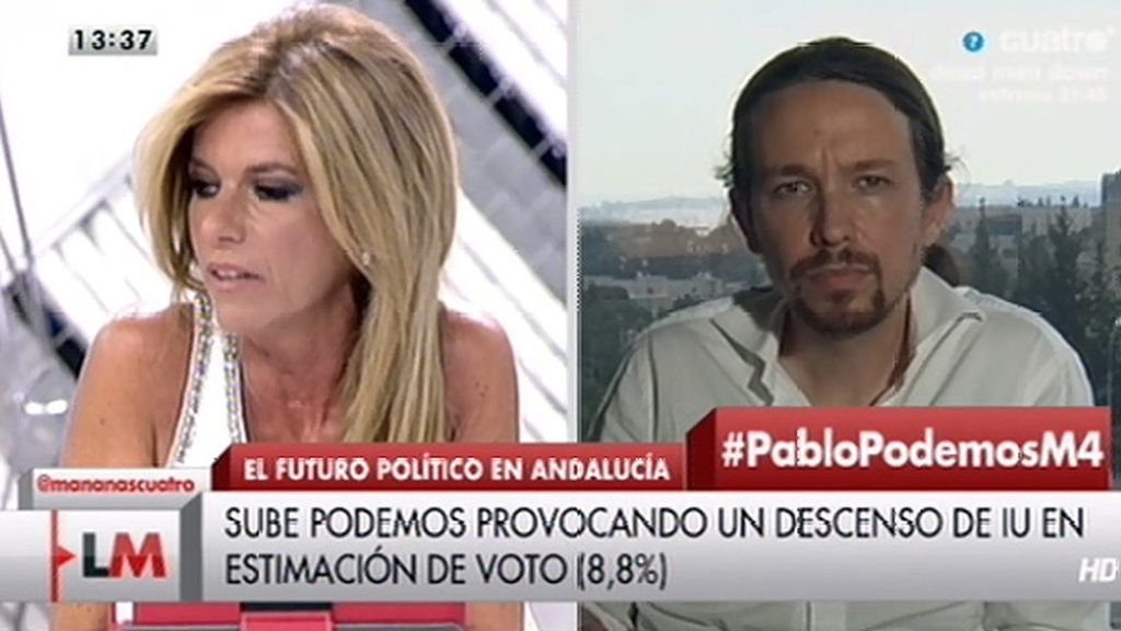"""Pablo Iglesias: """"No hemos considerado jamás a IU de la casta"""""""