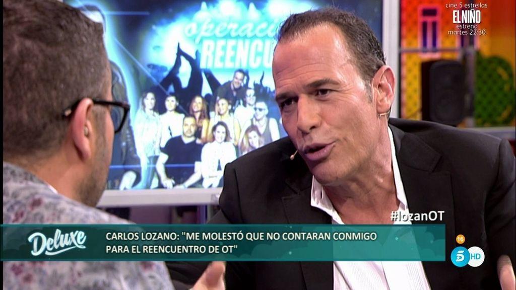 """Carlos Lozano: """"Me molestó que no contaran conmigo para el reencuentro de 'OT"""""""