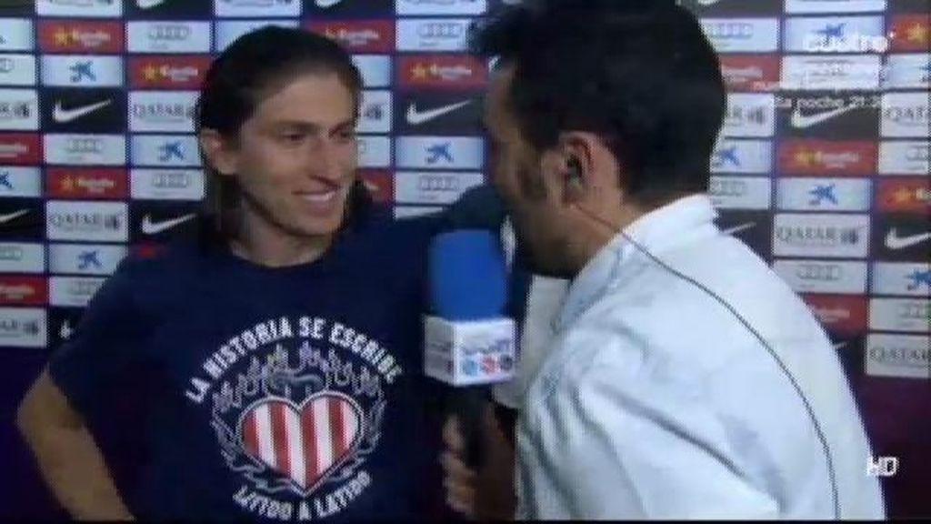 """Filipe Luis: """"Simeone nos dijo al descanso que todo saldría bien"""""""
