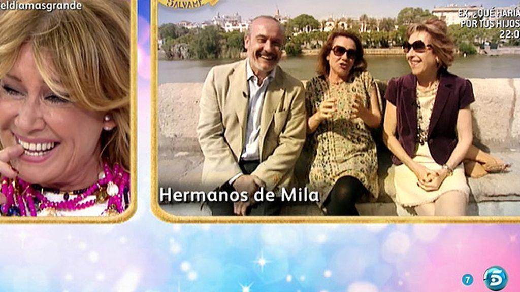 Los hermanos de Mila Ximénez recuerdan la historia de su familia