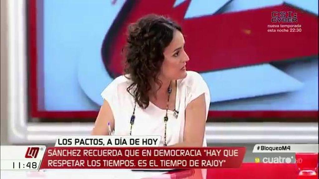 """Clara Alonso (IU): """"Si el PSOE camina en la dirección de abrir la posibilidad de una investidura alternativa, nos encontrará"""""""