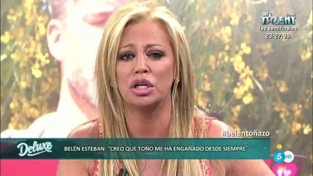"""Belén Esteban: """"Yo no estaba enamorada de Toño Sanchís pero él sí de mi dinero"""""""