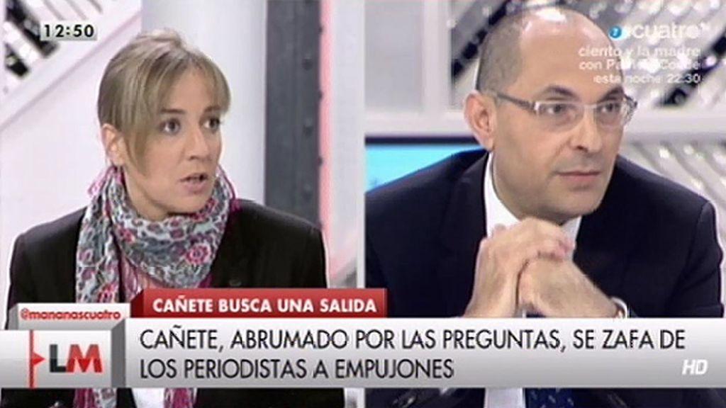 """Tania Sánchez, a Elpidio Silva: """"Yo no ninguneo a nadie"""""""