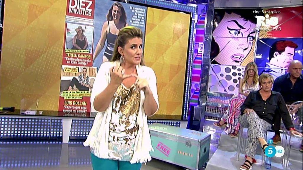 Carlota Corredera defiende la profesión de paparazzi  y habla de su robado