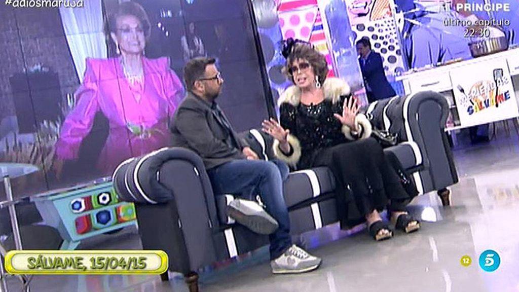 La última intervención de Marujita Díaz en 'Sálvame'