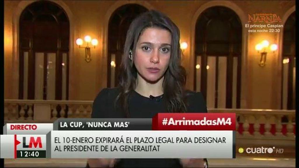 """Inés Arrimadas, de Artur Mas: """"En su lugar, yo no estaría tranquila"""""""