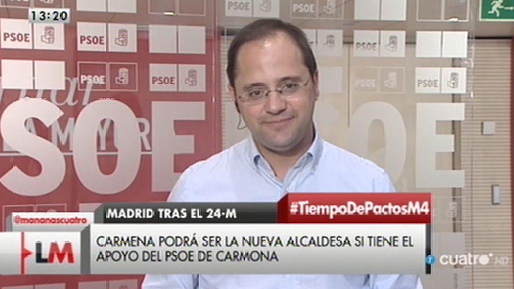 """César Luena: """"Es un buen resultado para el PSOE"""""""