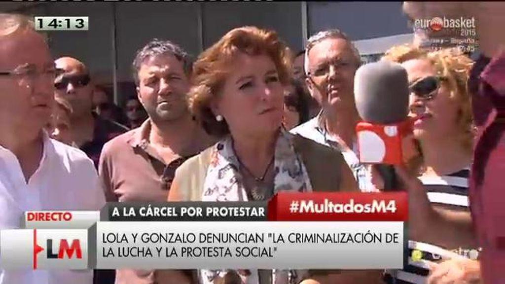 """Lola: """"Hay una intencionalidad de que a los sindicalistas y trabajadores se nos castigue"""""""