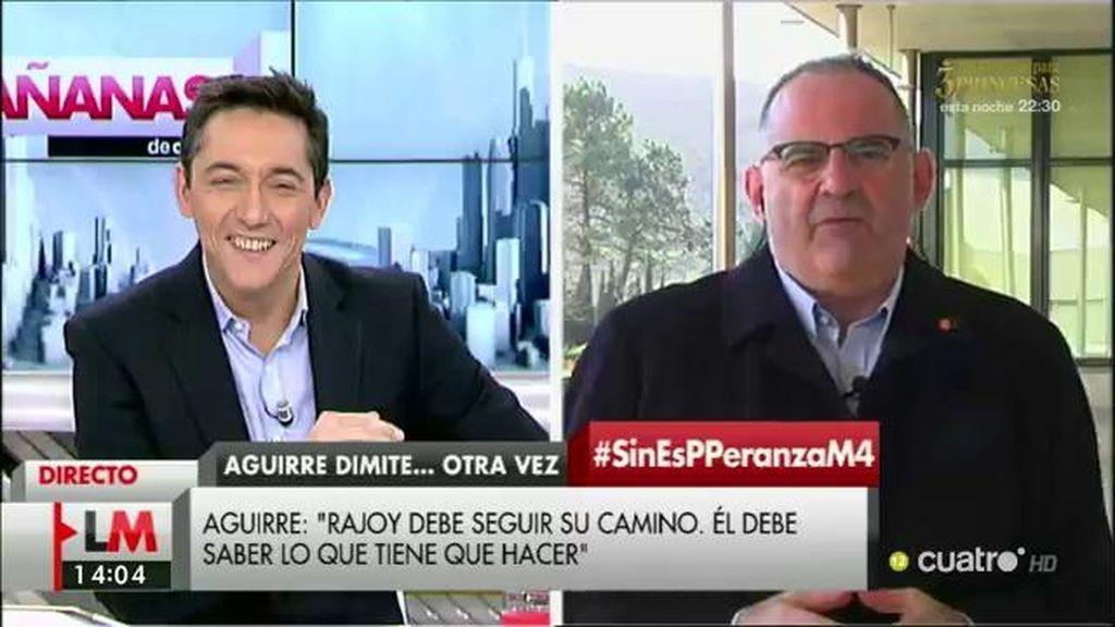 """Antón Losada: """"Lo de Aguirre puede explicarse como 'Una monja a la carrera"""""""