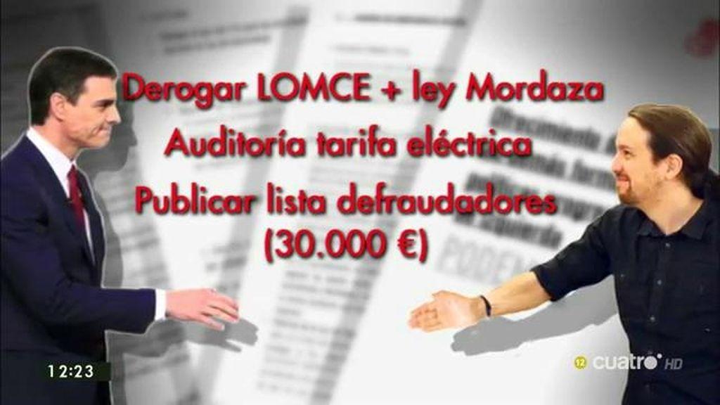 Las 'ofertas' de última hora a Podemos