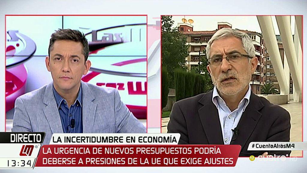 """Llamazares: """"El PP intenta meter miedo para que la investidura le salga barata a Rajoy"""""""