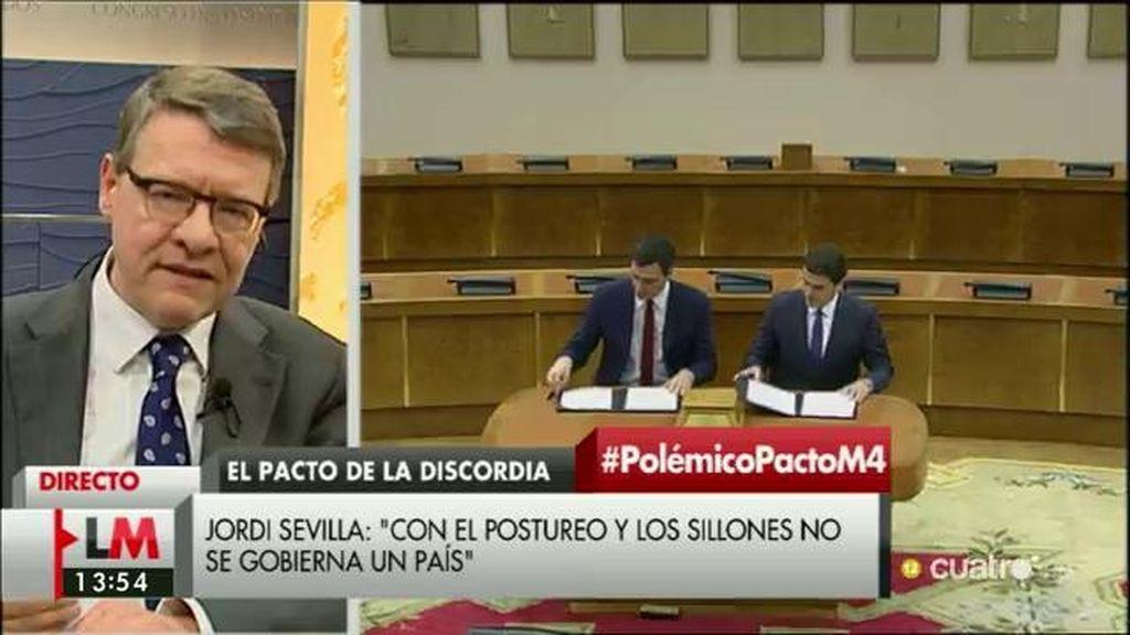 La entrevista a Jordi Sevilla, a la carta