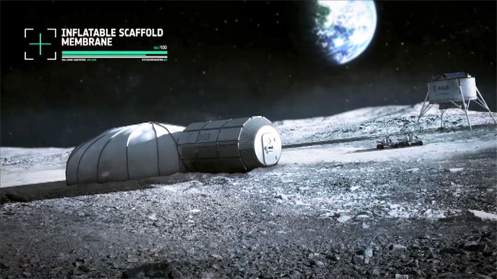 La ESA prevé la construcción de una base permanente en la Luna en 2026