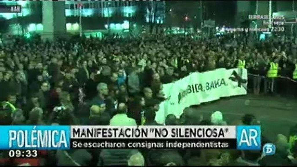 Manifiestación en Bilbao bajo el lema 'derechos humanos acuerdos y paz'