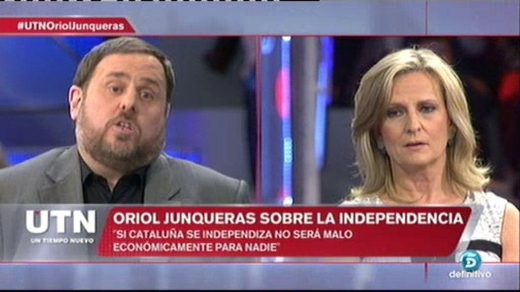 """Junqueras se enfrenta a I. San Sebastián: """"Los catalanes deben decidir su futuro"""""""