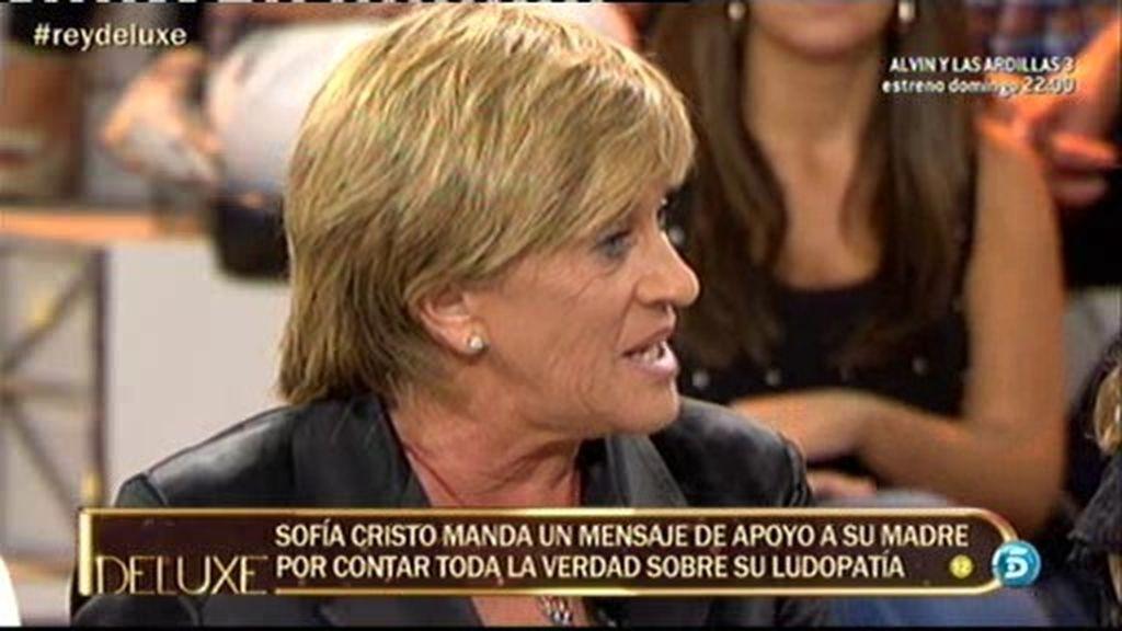 """Sofía Cristo manda un mensaje a su madre: """"No tengas miedo, mamá"""""""