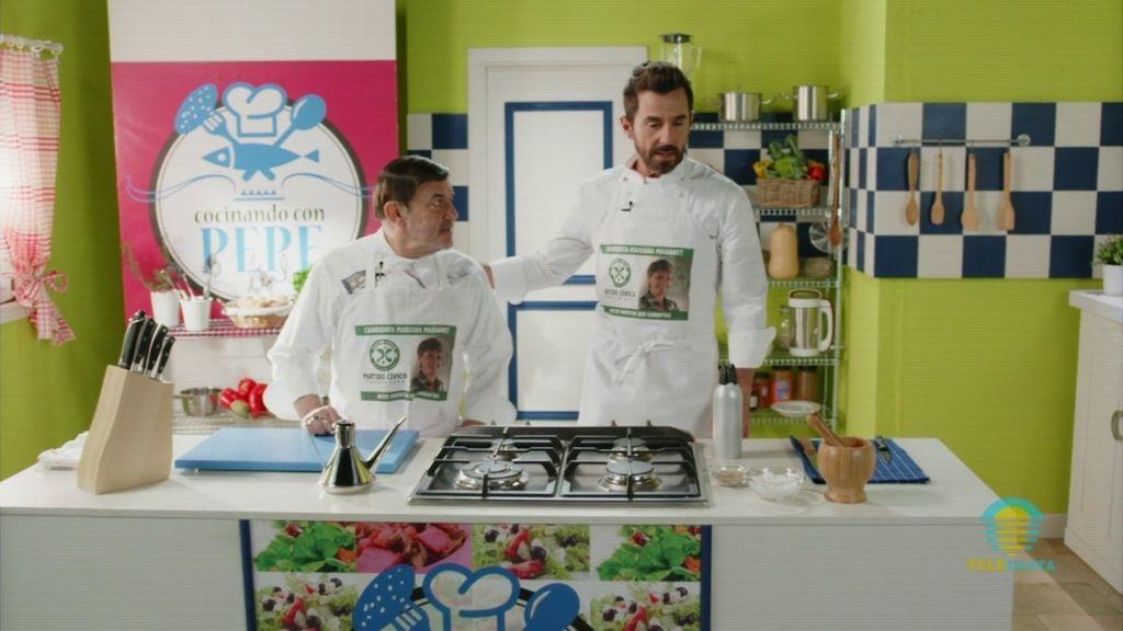 'Cocinando con Pepe… e hijo': Sergi se une al programa de televisión de su padre