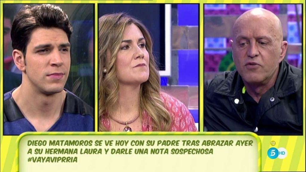 """Diego Matamoros cree que su padre no apoya """"de verdad"""" a su hermana Laura"""