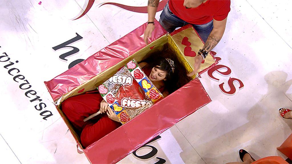 Una caja con sorpresa para Labrador