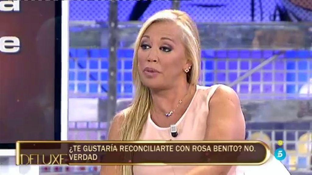 """Belén Esteban: """"No me gustaría reconciliarme con Rosa Benito, estoy muy dolida"""""""