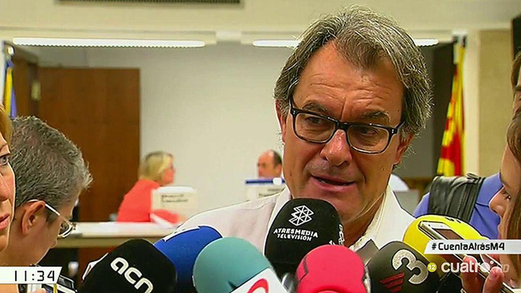 """Artur Mas, tajante: """"No va a haber apoyo al Partido Popular en ningún tipo de acuerdo"""""""