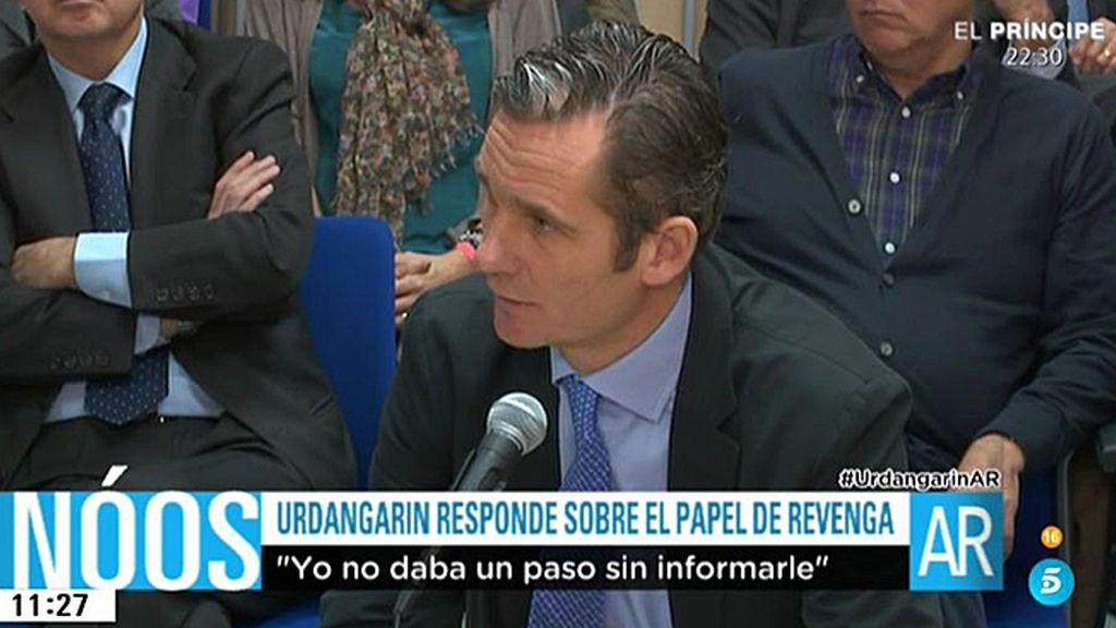 """Urdangarin: """"Yo no daba un paso en mi vida sin que lo supiera García Revenga"""""""