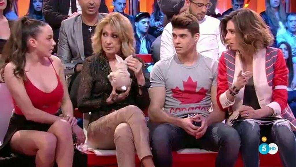 """Tensión en el plató entre Samira y Javi Tudela: """"No nos hemos liado, es una falsa"""""""