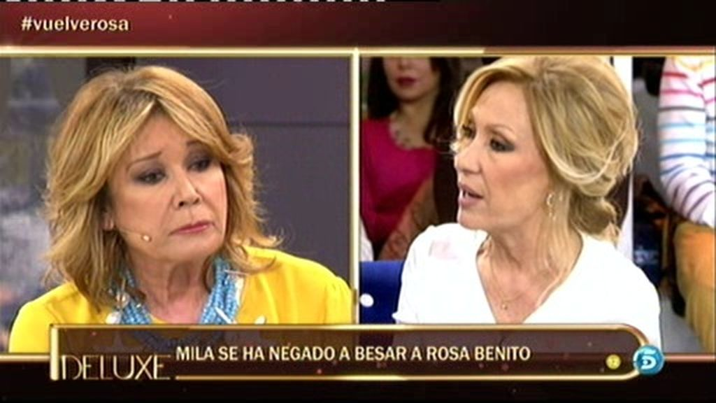 Mila Ximenez se niega a besar a Rosa Benito
