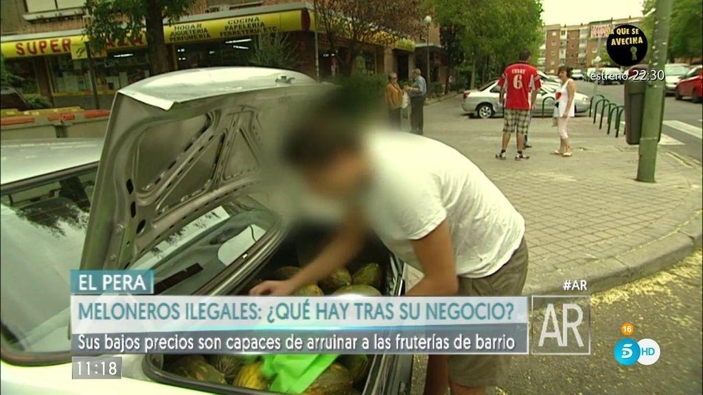 Meloneros ilegales: Bajo coste, mercancía robada y evasión de impuestos