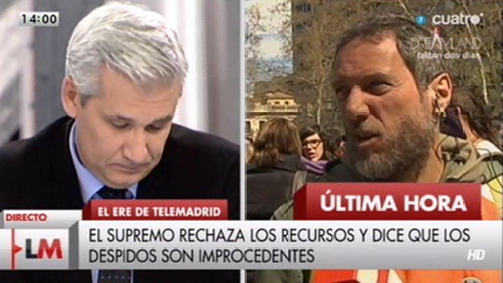 """José Ángel, trabajador de Telemadrid, a Víctor Arribas: """"Es el perro de su amo"""""""