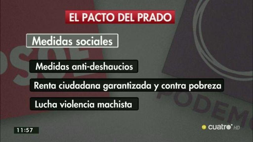Los ejes del acuerdo del Prado