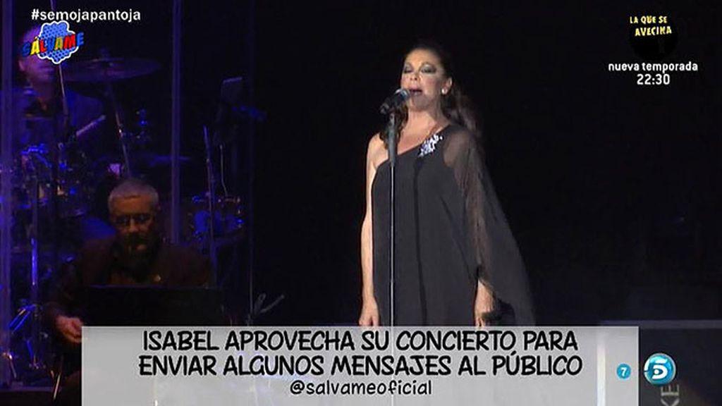 """Isabel Pantoja, a su público: """"¡Que Dios reparta suerte, hasta pronto!"""""""