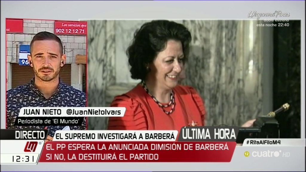 """J. Nieto, de Barberá: """"El auto del Supremo valida muchos de los indicios"""""""