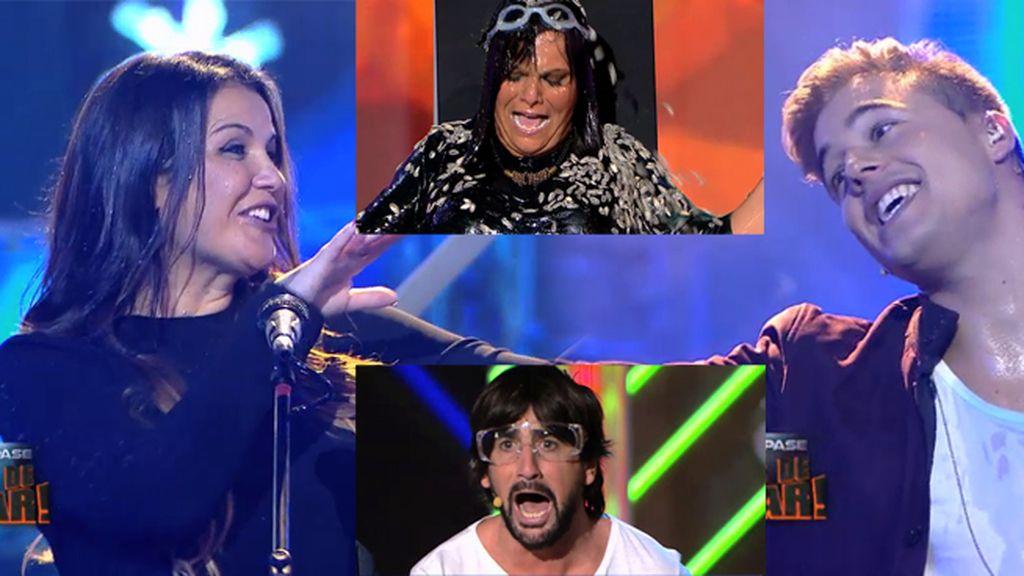 Pipas asesinas, un doble de Melendi, Katia Aveiro y Abraham, en 'Killer Karaoke'